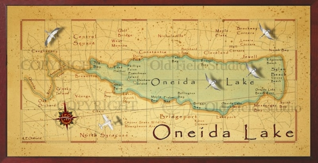 Oneida lake fishing map for Finger lakes fishing report